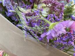 Blumendetail Scabiosa und Limonium