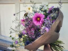 Blumenstrauss lila/blau