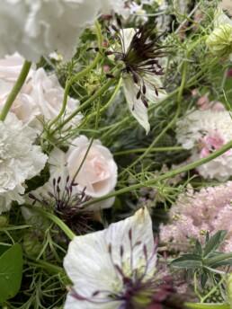 Blumenstrauss mit Detail Jungfer im Grünen