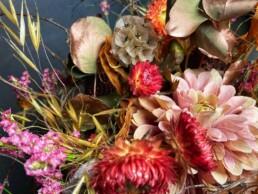 Detail herbstliche Blumenfüllung
