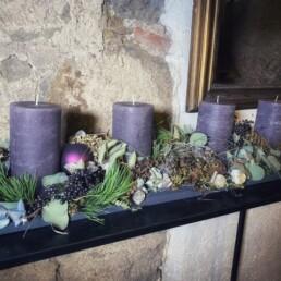 Adventsfries Lavendel