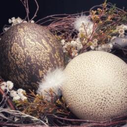 Von Hand verarbeitete Eier