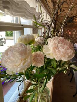 Blumen im Restaurant