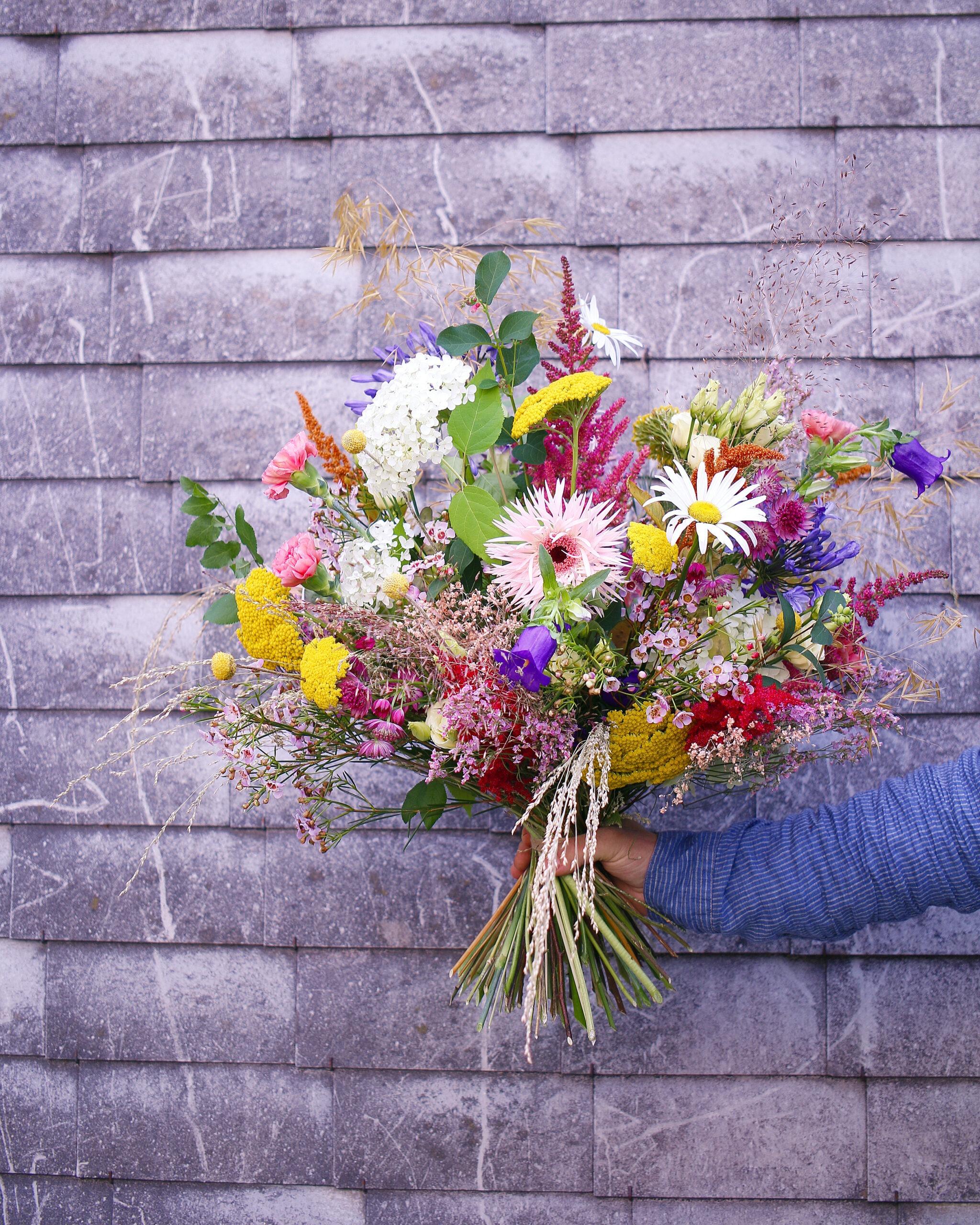 Blumenstrauss Farbexplosion